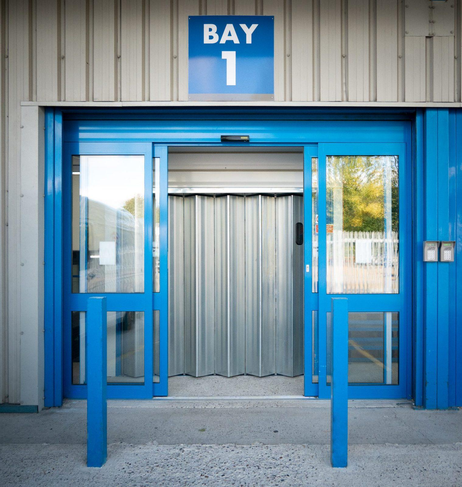 loading bay and lift of big blue squirrel storage