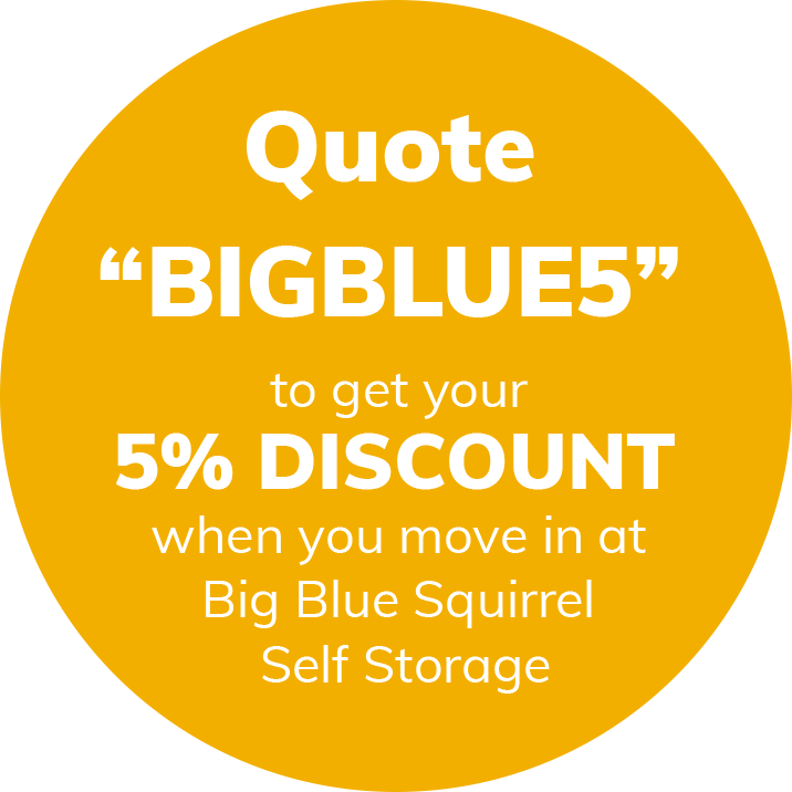 self storage logo discount voucher