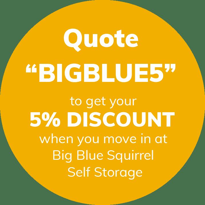 self storage logo discount voucher