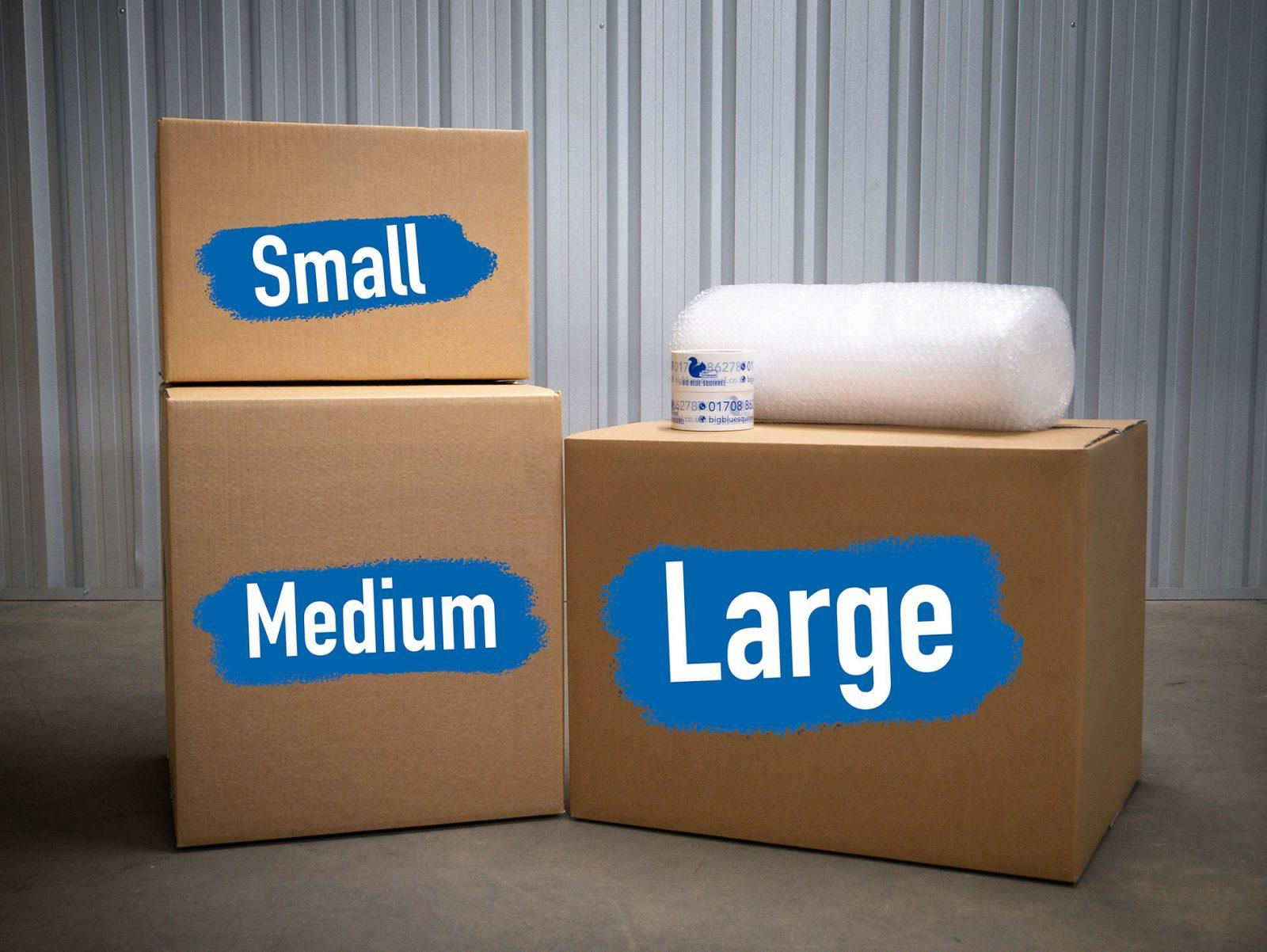 big blue squirrel boxes and packages